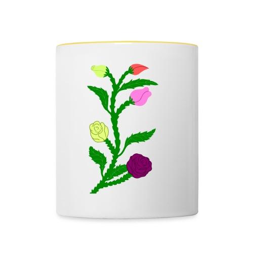 fleurs - Mug contrasté