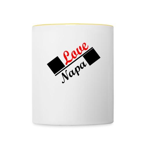 Love Napa - Tasse zweifarbig