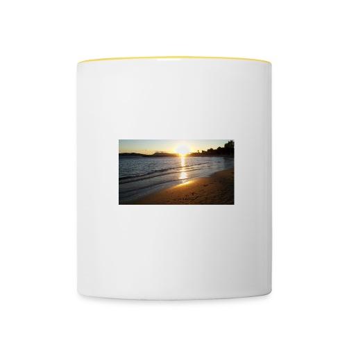 toulon plage olivier jpg - Mug contrasté