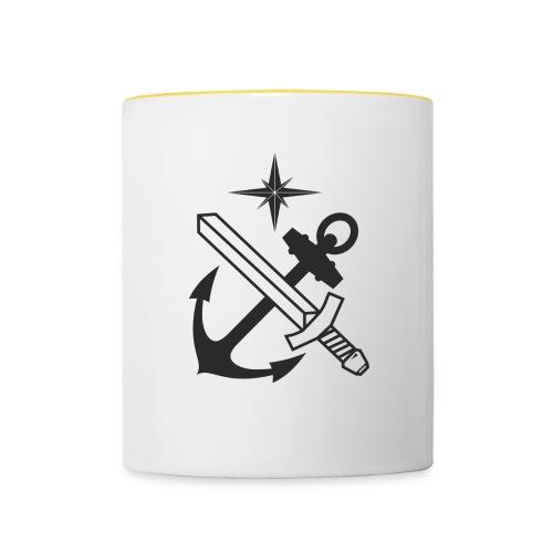 Basskyddskompaniet 1a pluton logo - Tvåfärgad mugg