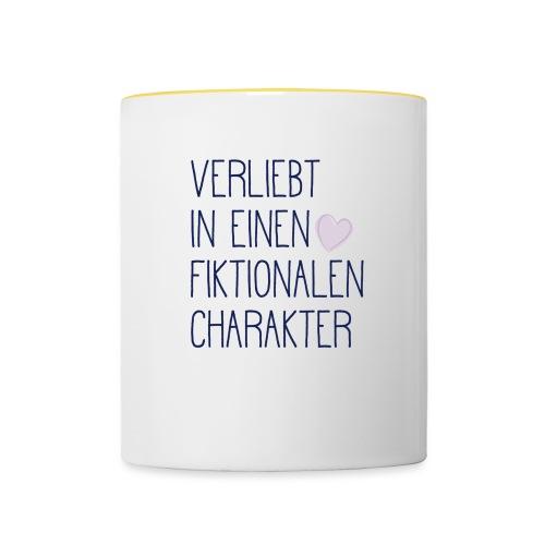 Verliebt in einen fiktionalen Charakter - Tasse zweifarbig