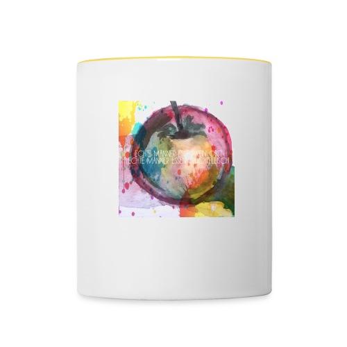 Apfel mit Aufschrift - Tasse zweifarbig