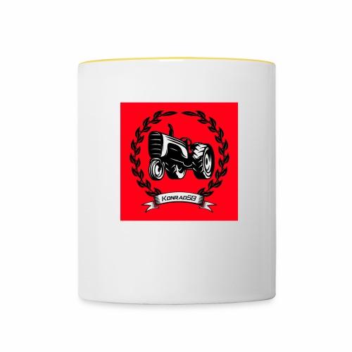 KonradSB czerwony - Kubek dwukolorowy