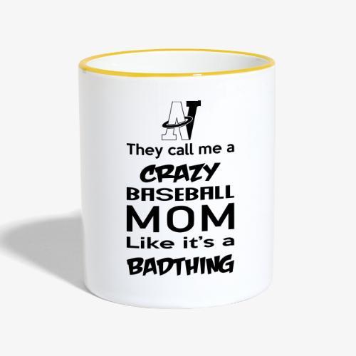 MOM_CRAZY - Mug contrasté