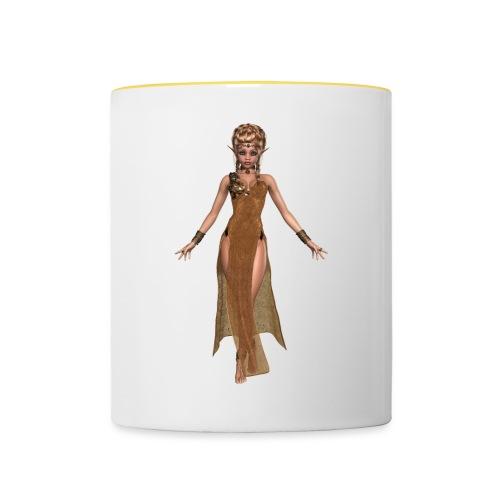 elven sorceress - Contrasting Mug