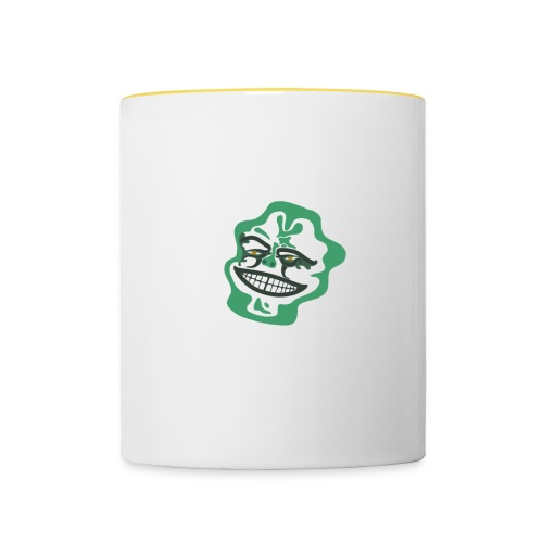 Grüner Ork - Tasse zweifarbig