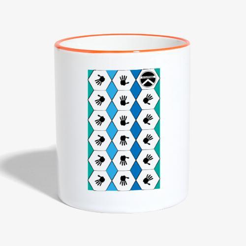 |K·CLOTHES| HEXAGON ESSENCE BLUES & WHITE - Taza en dos colores