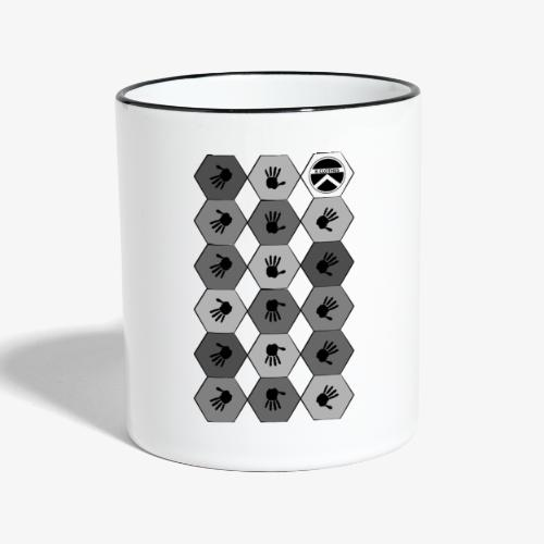 |K·CLOTHES| HEXAGON ESSENCE GREYS & WHITE - Taza en dos colores