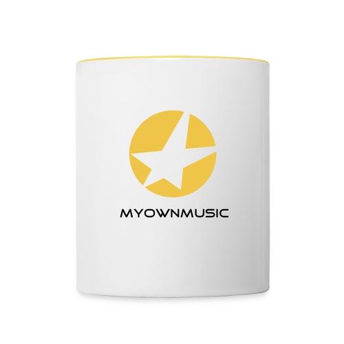 MOM Logo Schwarz - Tasse zweifarbig