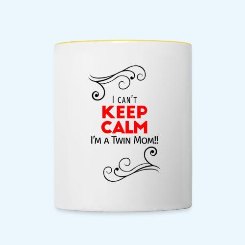 I Can't Keep Calm (voor lichte stof) - Mok tweekleurig