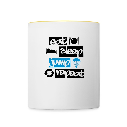 Eat Sleep Jump Repeat - Tasse zweifarbig