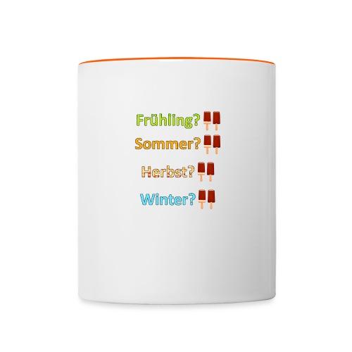 Eiszeit - Tasse zweifarbig