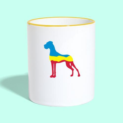 Flaggen Dogge - Tasse zweifarbig