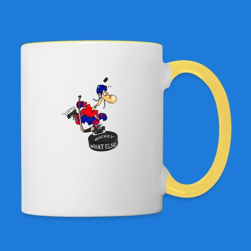 Hockey what else - Tasse zweifarbig