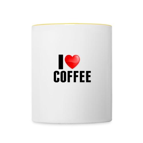 I Heart Coffee - Mok tweekleurig