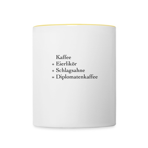 Diplomatenkaffee - Tasse zweifarbig