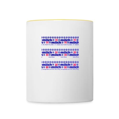 H-Milch - Tasse zweifarbig