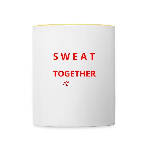 Friends that SWEAT together stay TOGETHER - Tasse zweifarbig