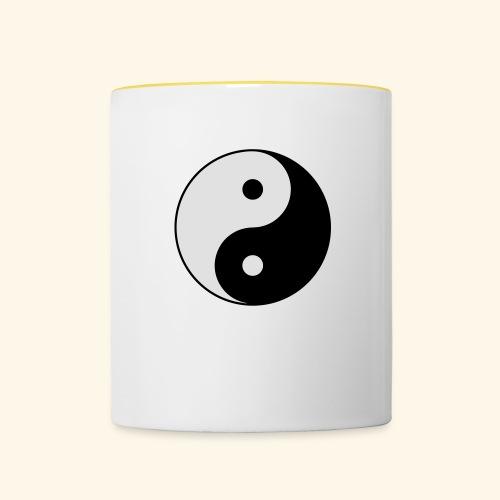 L'équilibre Ying Yang - Mug contrasté