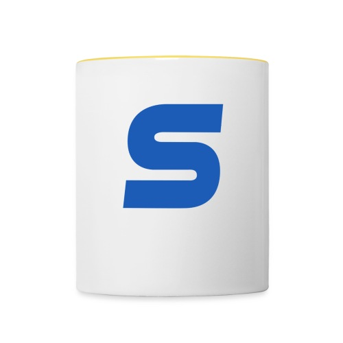 logo simple 2 0 Grand format - Mug contrasté