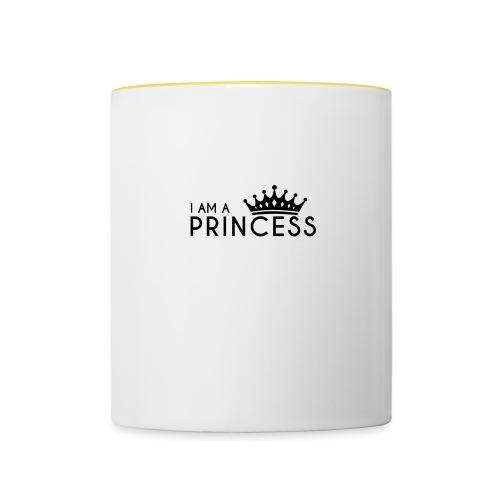 I AM A PRINCESS + KRONE - Tasse zweifarbig