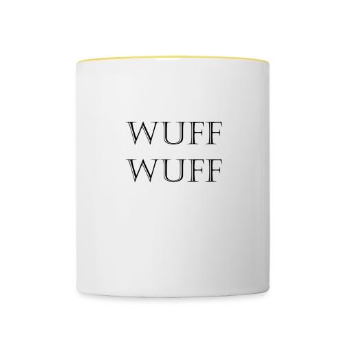 Wuff Wuff - Tasse zweifarbig