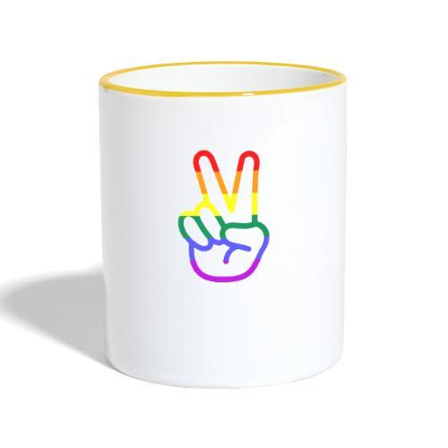 Peace Hand - Tasse zweifarbig