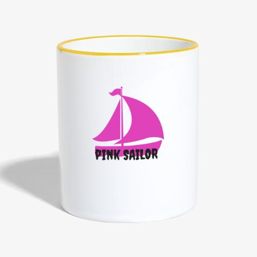 PINK SAILOR - Tvåfärgad mugg