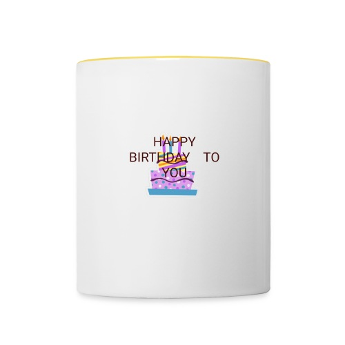 happy birthday 1 - Contrasting Mug