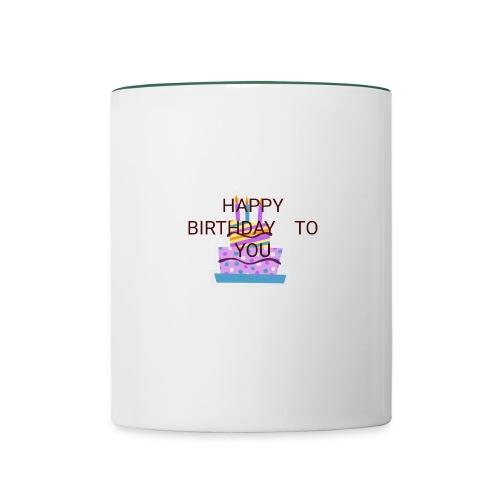 happy birthday 1 - Contrasting Mug