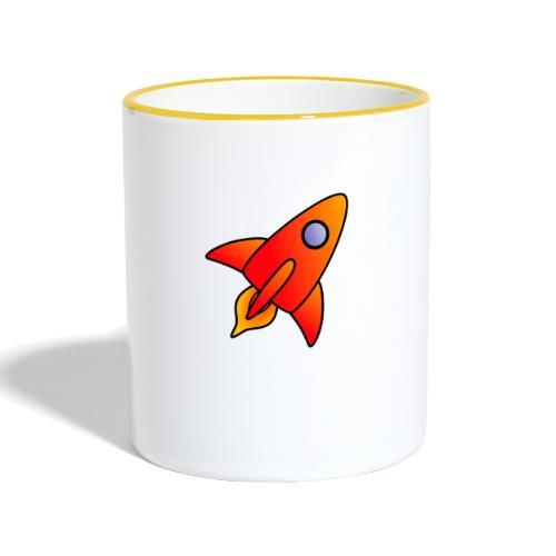 Red Rocket - Contrasting Mug