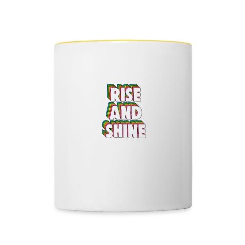 Rise and Shine Meme - Contrasting Mug