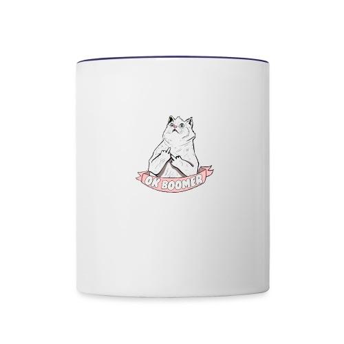 OK Boomer Cat Meme - Contrasting Mug