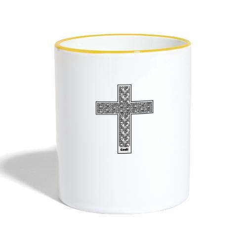 Jesus cross. I'm no longer a slave to fear. - Contrasting Mug