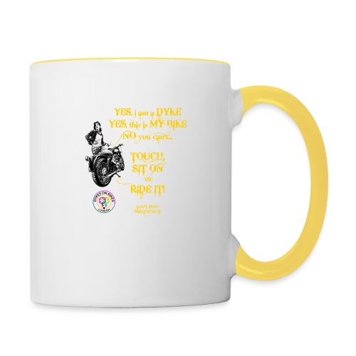 Member no touch YELLOW with DOB Logo - Contrasting Mug