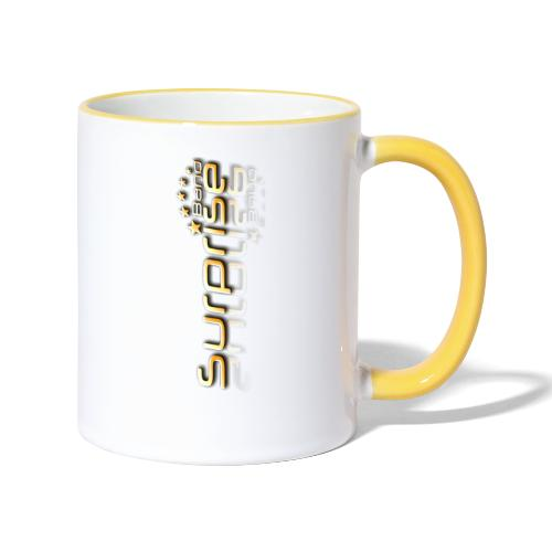 Surprise Band Logo Gold - Tasse zweifarbig
