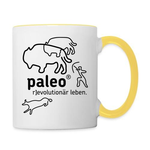 Paleo r evolutionär Illu - Tasse zweifarbig