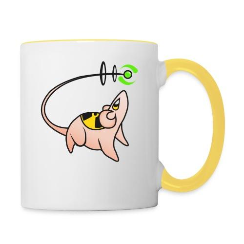 nuclear mouse 2 - Mug contrasté