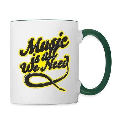 Music Is All We Need - Contrasting Mug