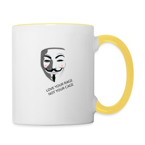 Anonymous Love Your Rage - Contrasting Mug