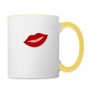 mujer_beso-png - Taza en dos colores
