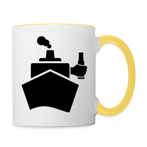 King of the boat - Tasse zweifarbig