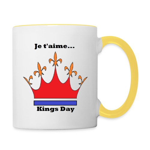 Je taime Kings Day (Je suis...) - Mok tweekleurig
