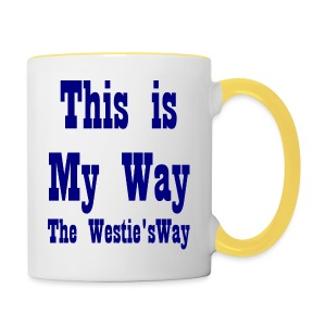 This is My Way Navy - Contrasting Mug