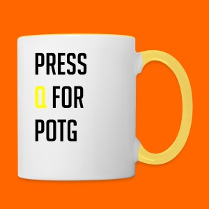 Press Q for play of the game - Contrasting Mug
