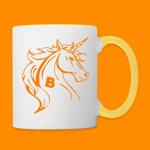orange biodusty unicorn shirt - Mok tweekleurig