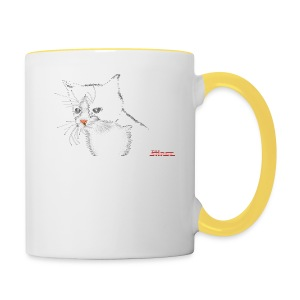 Cat FEMALE - Contrasting Mug