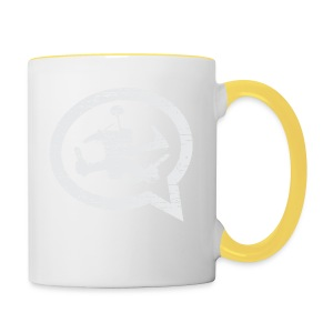 QUAD TALK DISTRESSED LIGHT - Contrasting Mug