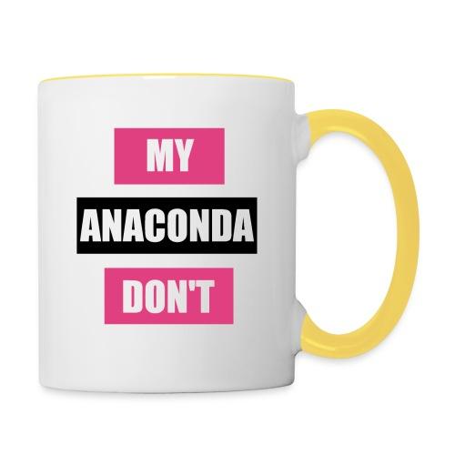 My Anaconda Don't - Beutel - Tasse zweifarbig