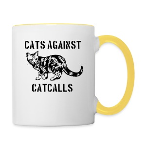 Cats against catcalls - Contrasting Mug